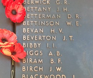 Australian War Memorial dedication board