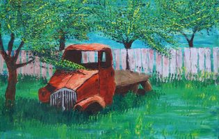 Forgotten but not Gone – acrylic on stretched canvas (c) Jennifer Mosher