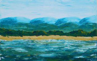 South Coast Fishermen – acrylic on stretched canvas (c) Jennifer Mosher