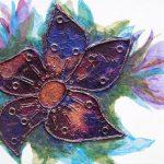 Trinket Flower - mixed media on stretched canvas (c) Jennifer Mosher