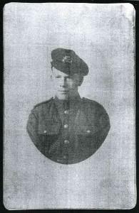 Private Arthur McArdle Born 1898 Died 1918