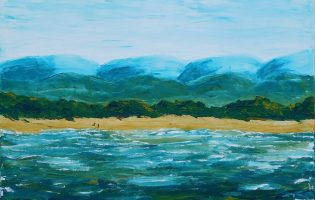 South Coast Fishermen – acrylic on stretched canvas (c) Jennifer Mosher