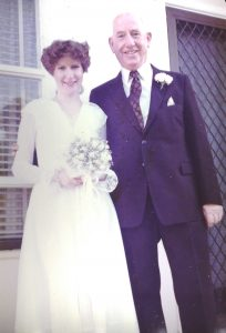 Wedding day - Jennifer Mosher with father, Hugh Butler