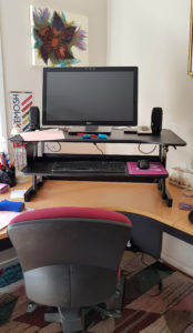 Wynston sit stand desk in standing position
