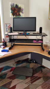 Wynston sit stand desk in standing position no chair