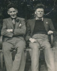 My father, Hugh Butler (l) with his older brother Arthur Butler (r) most likely named after Private Arthur McArdle
