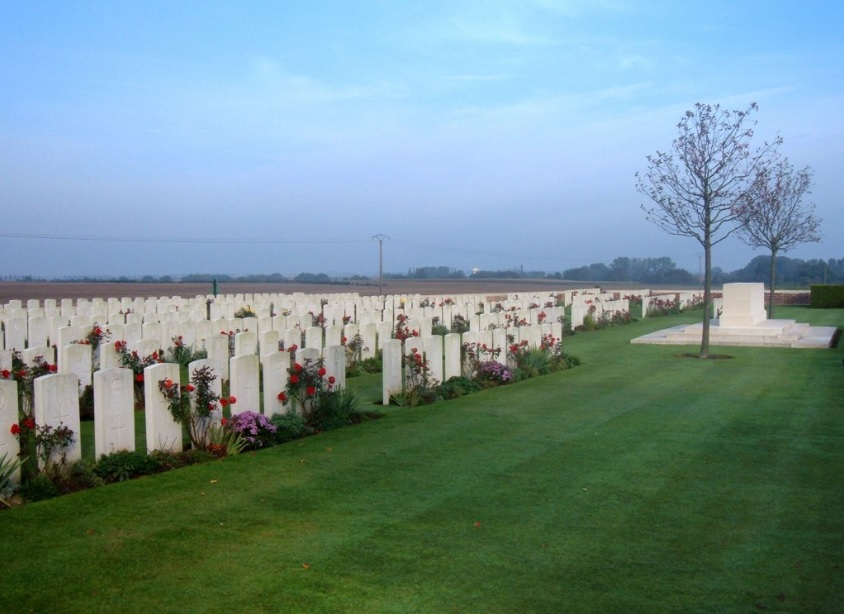 Delsaux Farm Cemetery, Beugny courtesy Commonwealth War Graves Commission