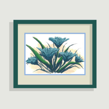 Blue Lily Day - framing suggestion
