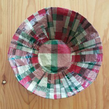 Tartan Around Mini-Bowl - inside