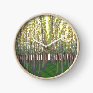 Birch Grove - Redbubble Clock