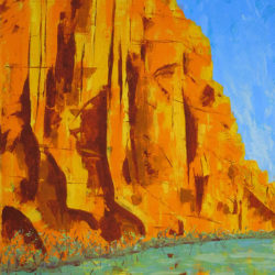 Colorado Cliffs - acrylic on stretched canvas (c) Jennifer Mosher