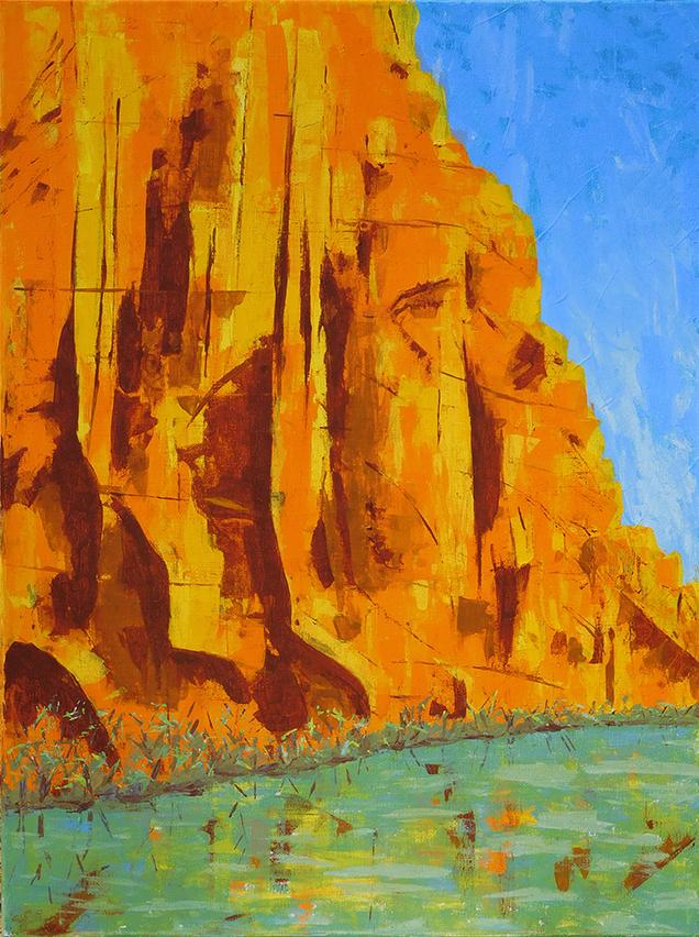 Colorado Cliffs - acrylic on stretched canvas (c) Jennifer Mosher