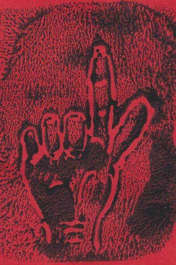 Dos per favor black on red (c) Jennifer Mosher