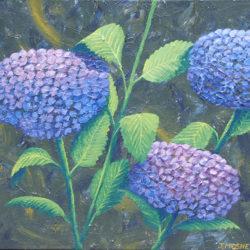 Hydrangeas - acrylic on stretched canvas (c) Jennifer Mosher