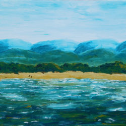 South Coast Fishermen - acrylic on stretched canvas (c) Jennifer Mosher