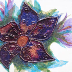 Trinket Flower - mixed media (c) Jennifer Mosher