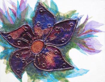 Trinket Flower - mixed media (c) Jennifer Mosher
