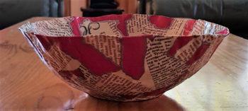Black and White and Read All over Mini Bowl - side view 1