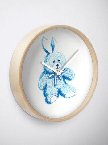 Blue Bear - Redbubble Clock
