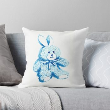 Blue Bear - Redbubble pillow