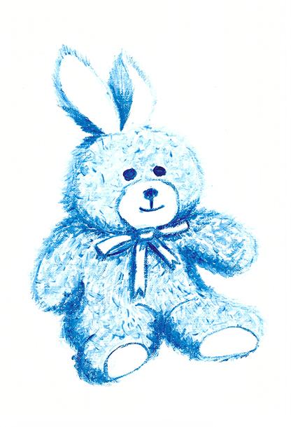 Blue Bear - acrylic on paper (c) Jennifer Mosher