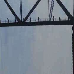 Bridge Climb Descent - acrylic (c) Jennifer Mosher