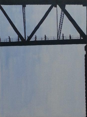 Bridge Climb Descent - acrylic (c) Jennifer Mosher