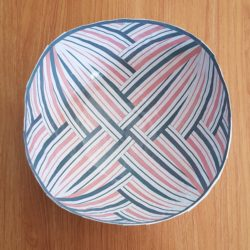 Candy Stripe Bowl - inside