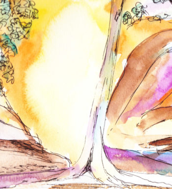Central Australia I - watercolour - crop 3 (c) Jennifer Mosher