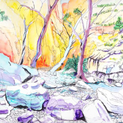 Central Australia II - watercolour (c) Jennifer Mosher
