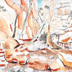 Central Australia III - watercolour (c) Jennifer Mosher
