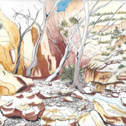 Central Australia IV - watercolour (c) Jennifer Mosher