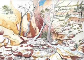 Central Australia IV - watercolour (c) Jennifer Mosher