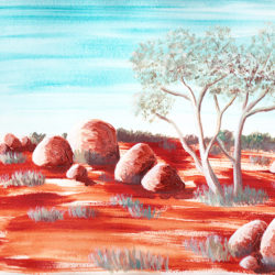Central Australia V - acrylic on paper (c) Jennifer Mosher