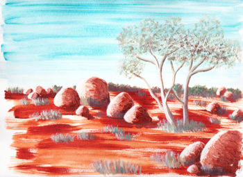Central Australia V - acrylic on paper (c) Jennifer Mosher