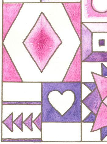 Hearts and Diamonds Sampler - crop 1