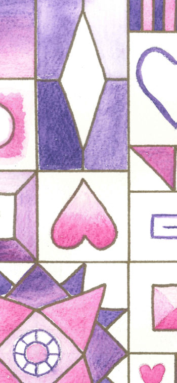 Hearts and Diamonds Sampler - crop 3