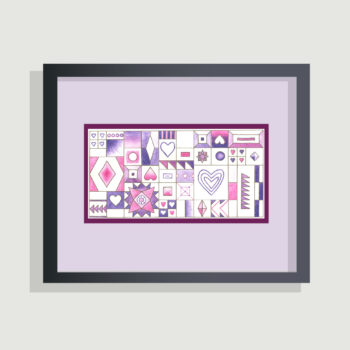 Hearts and Diamonds Sampler - framing suggestion