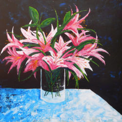 Lilies - acrylic on canvas (c) Jennifer Mosher
