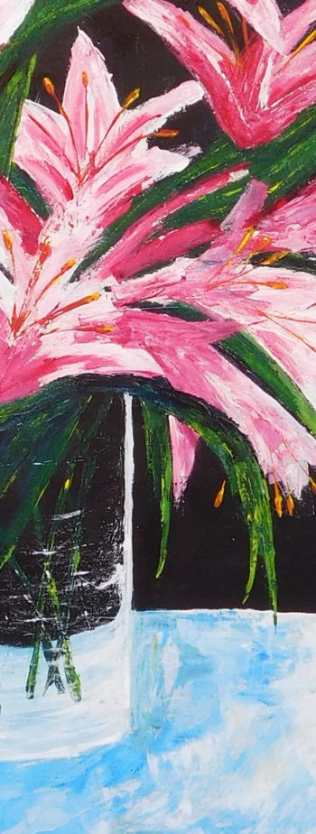 Lilies - acrylic on stretched canvas - crop 1