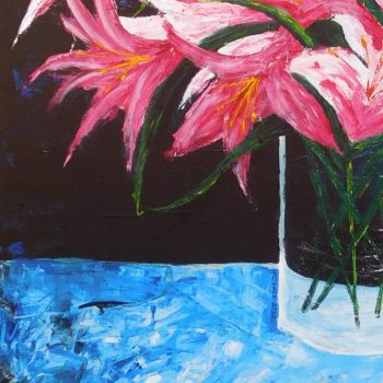 Lilies - acrylic on stretched canvas - crop 2