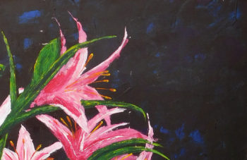 Lilies - acrylic on stretched canvas - crop 3