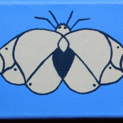 Moth in Blue - acrylic (c) Jennifer Mosher