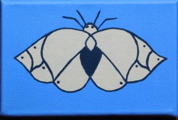 Moth in Blue - acrylic (c) Jennifer Mosher