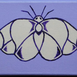 Moth in Mauve - acrylic (c) Jennifer Mosher