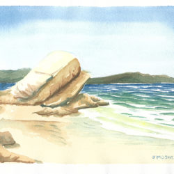 On the Beach - watercolour (c) Jennifer Mosher