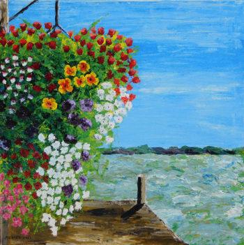 Sausalito Flowers - acrylic (c) Jennifer Mosher