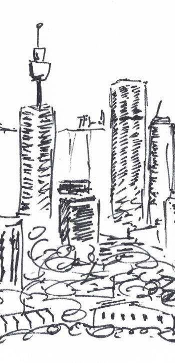 Sydney, Australia - sketch - crop 1 (c) Jennifer Mosher