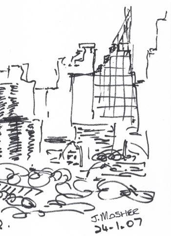 Sydney, Australia - sketch - crop 2 (c) Jennifer Mosher