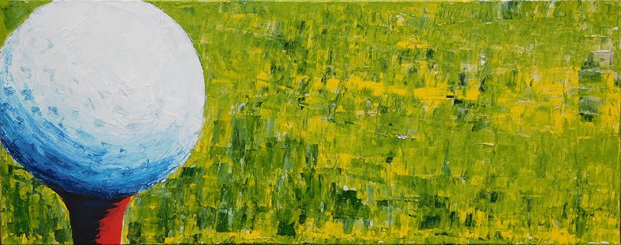 Tee Time - acrylic (c) Jennifer Mosher